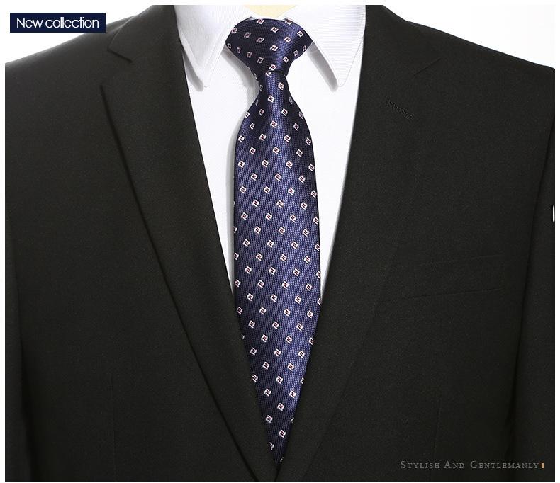 Cà vạt xanh đen 164 - 2
