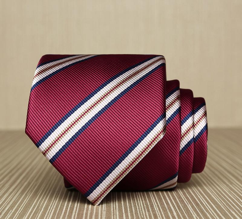 Cà vạt sọc đỏ 165 - 1