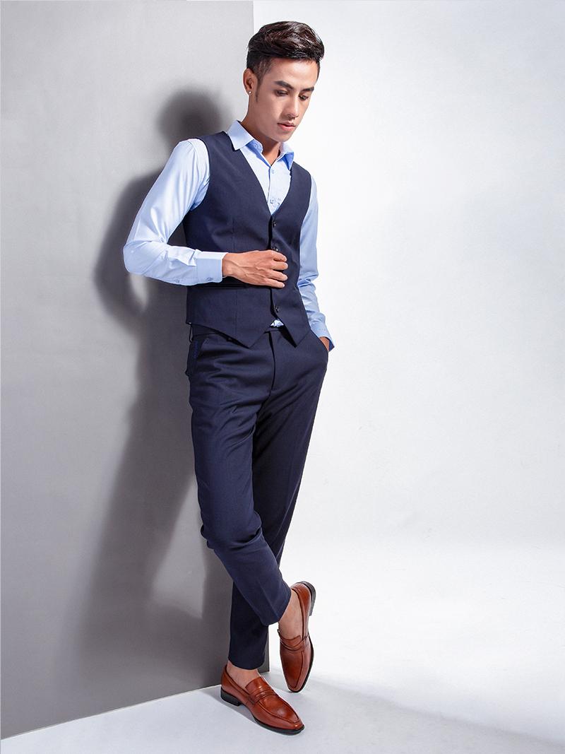 Áo gile xanh đen 1103 - 4