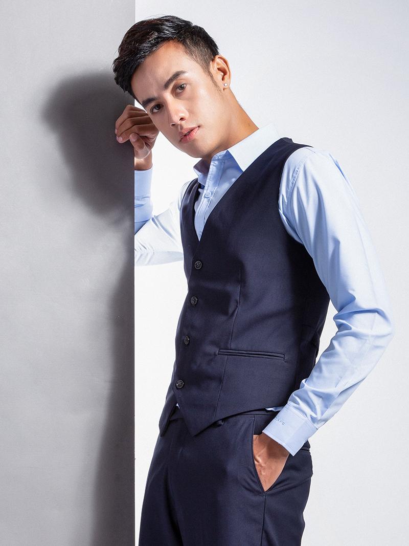 Áo gile xanh đen 1103 - 1