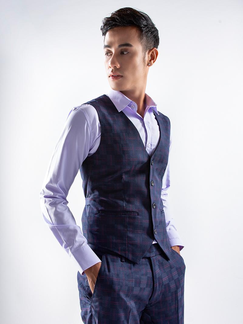 Áo gile xanh đen 1115 - 2