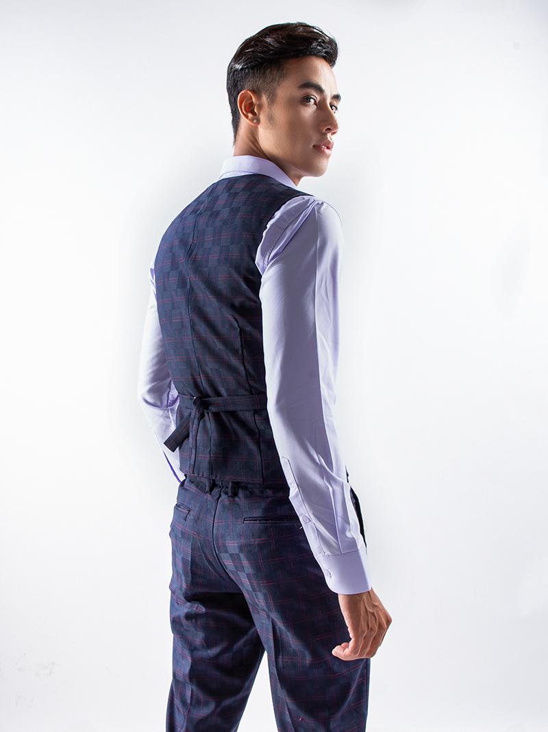 Áo gile xanh đen 1115 - 3