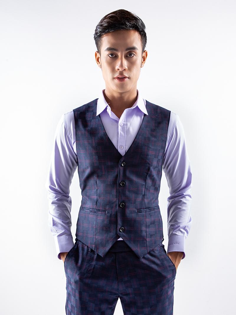 Áo gile xanh đen 1115 - 1