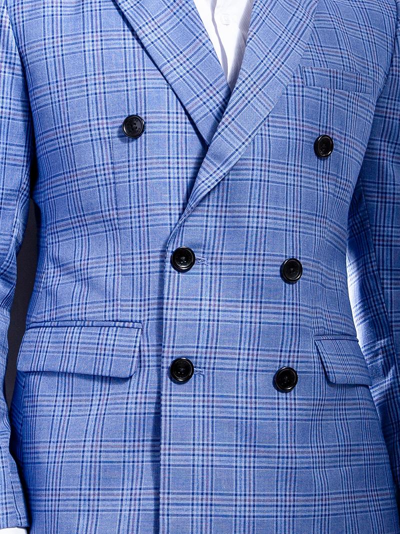 Áo vest caro xanh 1105 - 4