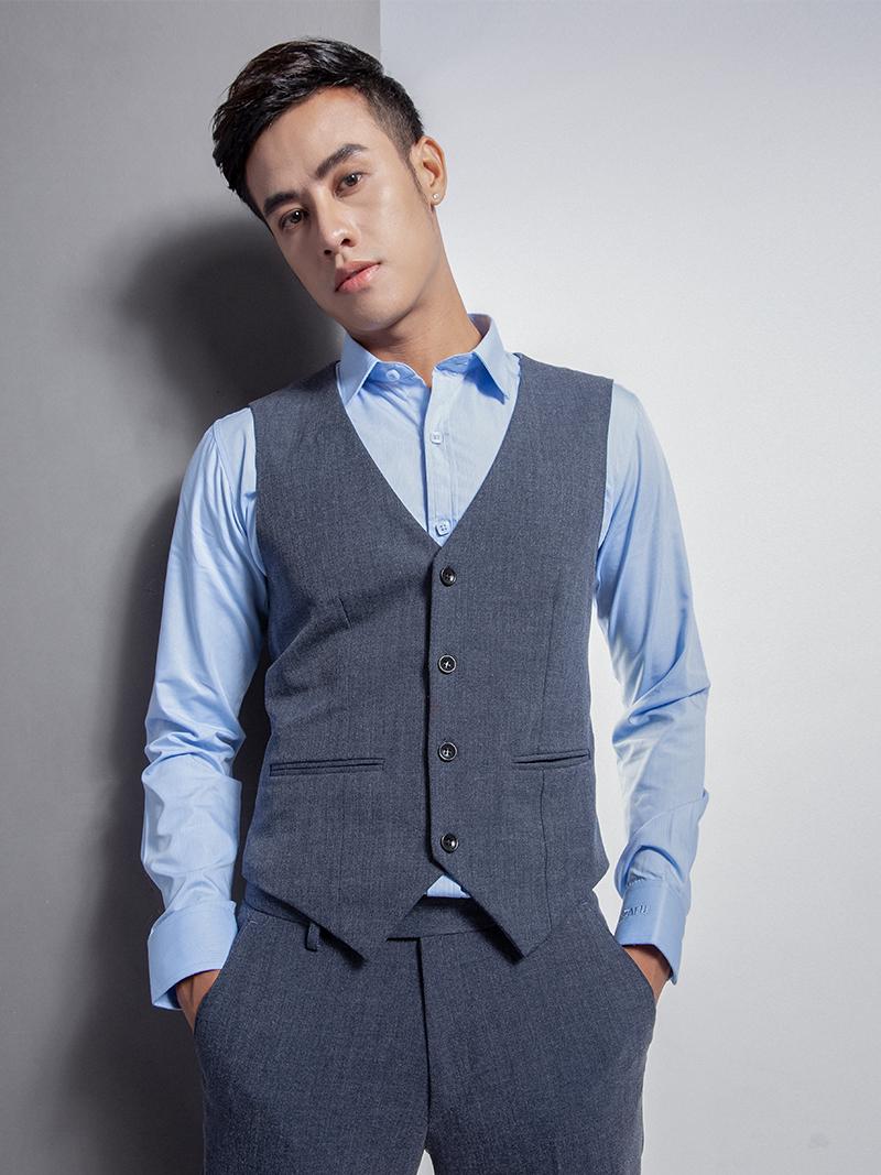 Áo gile xanh đen 1113 - 1