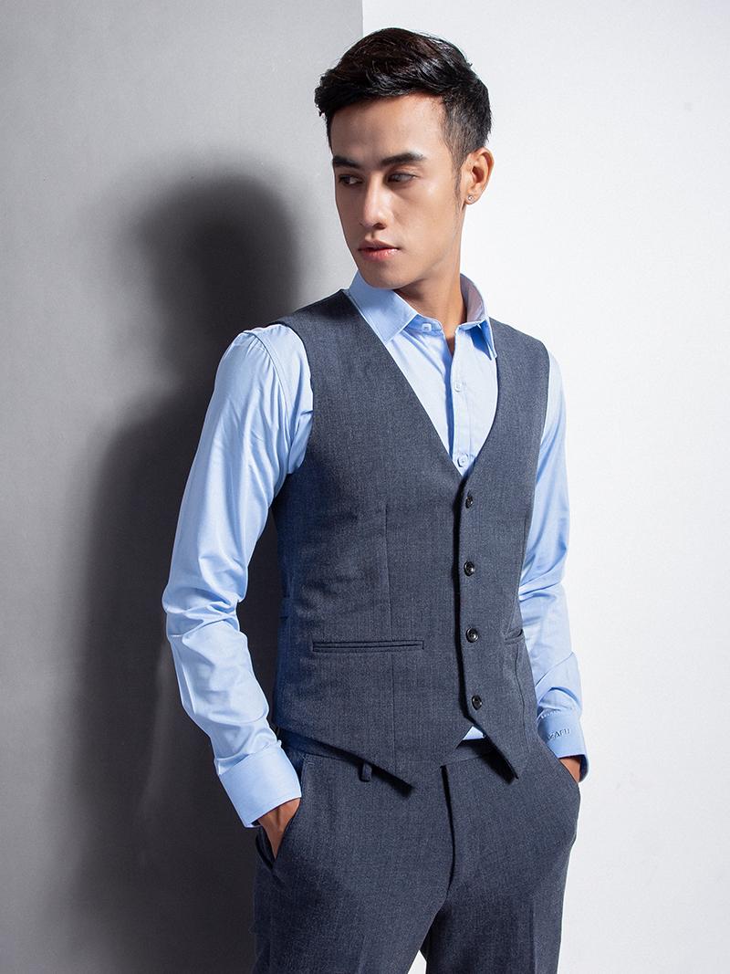 Áo gile xanh đen 1113 - 2