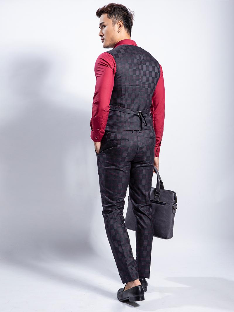 Áo gile đen 1115 - 3